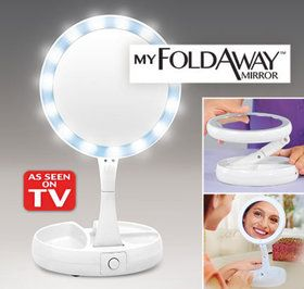 My Foldaway Mirror Mirror Bright Led Lights Glass Mirror