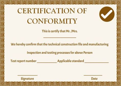 certificate of conformity sample templates Certificate of - best of certificate of destruction form