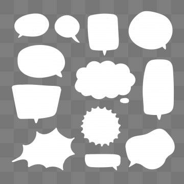 Blank White Speech Bubbles Thinking Talks Bubbling Chat Comment Comic Retro Shouting Voice Shapes Background Blank Boom Png And Vector With Transparent Back In 2020 Speech Bubble Geometric Background Balloons
