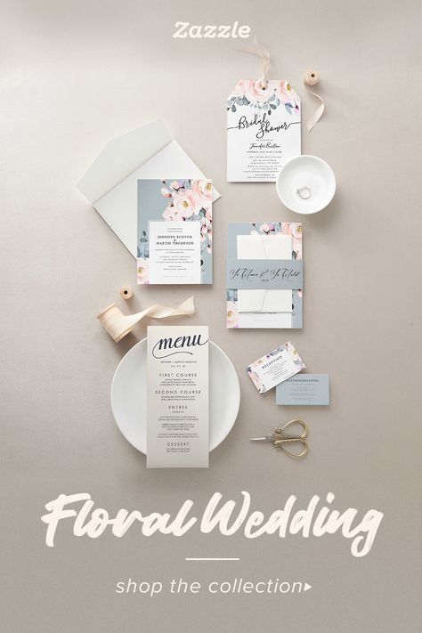 Floral Wedding - Zazzle