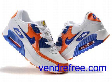 air max 90 blanc bleu orange