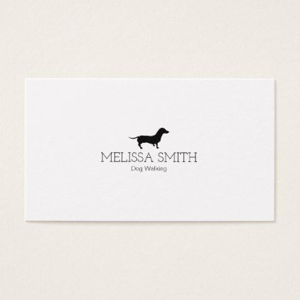 Elegant Minimal Dog Walking Business Card Minimal Gifts Style Template Diy Unique Perso Dog Walking Business Cards Dog Walking Business Business Cards Beauty