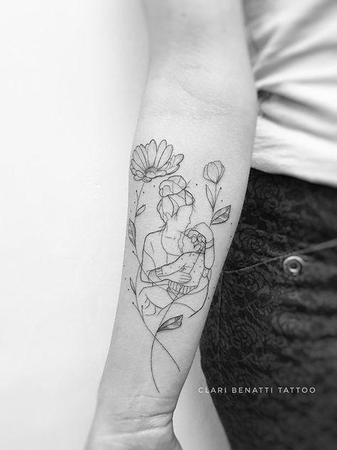 The Delicacy of Minimalist Skin Stroke by Clari Benatti - #tattoo #tattoo ...  #Benatti #Clari #Delicacy #Minimalist #skin #Stroke #tattoo