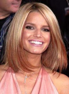 Medium-length layered bob with long bangs | Hair and Beauty ...