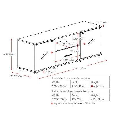 Fernbrook 1 Drawer Tv Stand Black 70 Corliving Tv Stand Wood