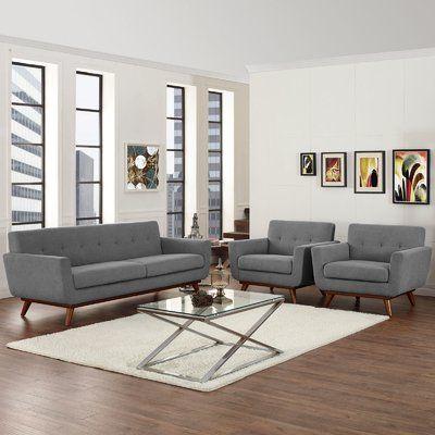 Allmodern Acevedo 3 Piece Standard Living Room Set In 2021 Black Living Room Decor Black Living Room 3 Piece Living Room Set