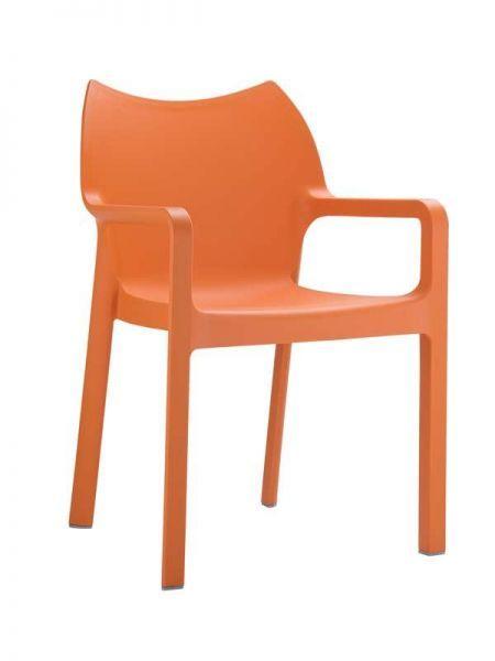 Stuhl Diva Orange Esszimmerstuhl Stuhle Designer Essstuhle
