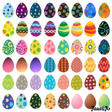 """""""55 Easter Egg clipart ,Egg clipart,Easter Egg Clip art,Easter Clip Art,Easter Egg Digital Clipart * * * * * * * * * * * * * * * * * * * * * * BUY 2, GET 1 FREE! Purchase any 2 items and get a 3rd item of equal or lesser value free! Add all three items to your cart and use coupon code BUYME to redeem your offer. Please make sure that the discount has been applied before you proceed with your payment. Add three items to your cart and don't miss our coupon code: BUYME And click Apply * * * * * * *"""