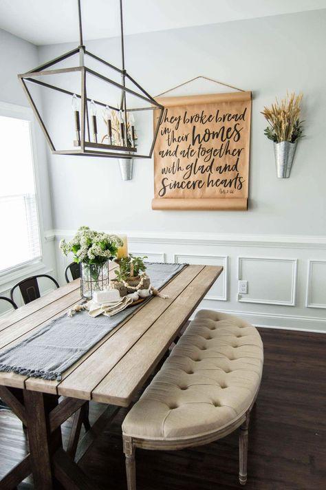 Springtime Farmhouse Table Centerpiece