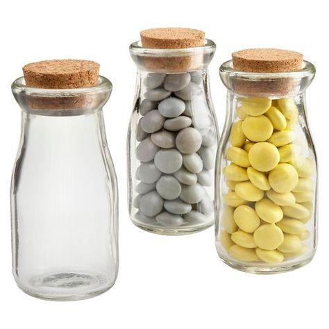 Kate Aspen Set of 12 Mini Glass Favor Jar