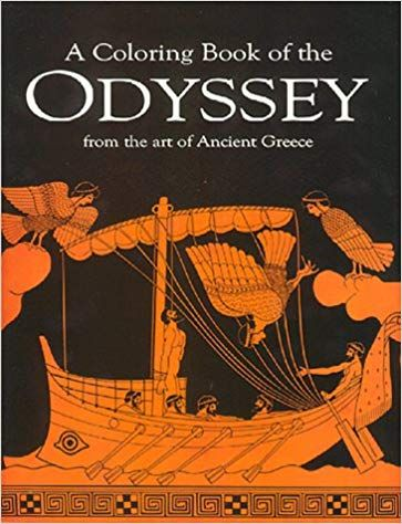 A Coloring Book Of The Odyssey From The Art Of Ancient Greece Greek Edition Homer 9780883882078 Amazon Com Books Coloring Books Books Ancient Greek Art