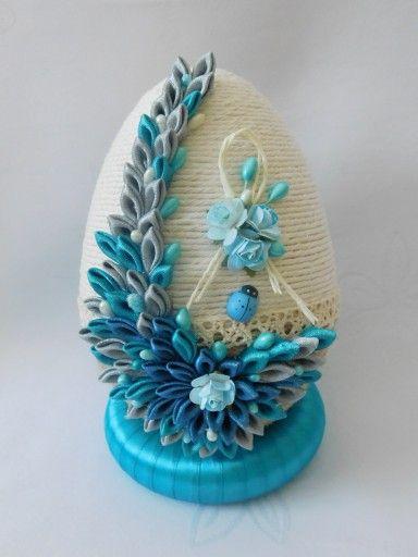 Piekne Jajko Pisanka Ozdoby Wielkanocne Rekodzielo 7165947305 Oficjalne Archiwum Allegro Easter Crafts Quilling Patterns Ribbon Crafts