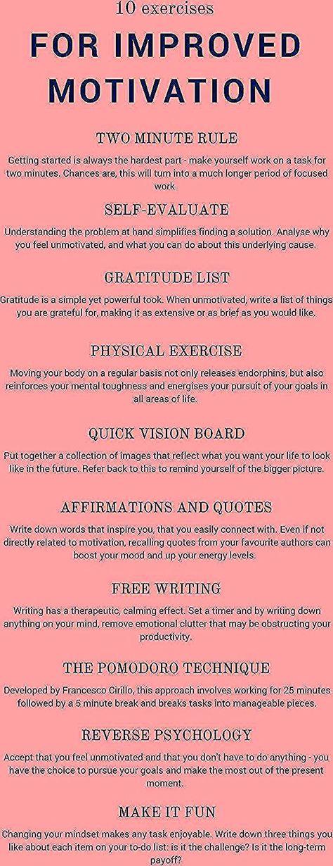 Zehn Übungen, um die Motivation zu steigern, einen Einbruch zu überwinden und den W ... - #den #die #Einbruch #einen #Motivation #steigern #überwinden #Übungen #um #und #Zehn #zu