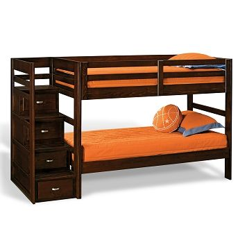 Varsity Merlot Iii Kids Furniture Twin Bunk Bed With Stairs Our Forever Home Van S Room Pinterest City And
