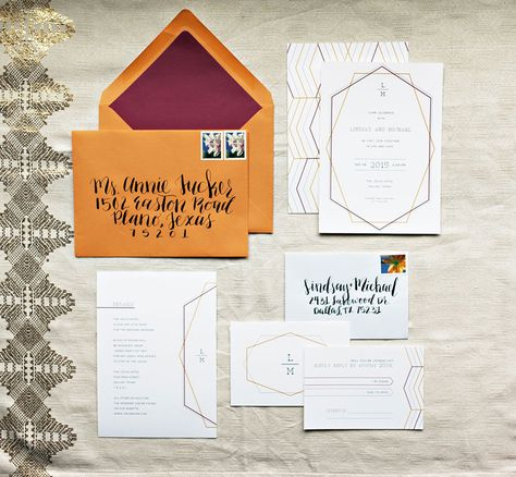 Custom Wedding Invitations and Calligraphy from Clara Doyle Designs #weddinginvitation