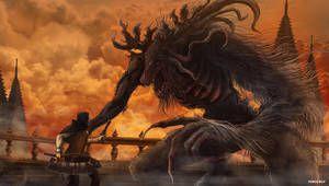 Bloodborne Cleric Beast By Oniruu In 2020 Bloodborne Dark