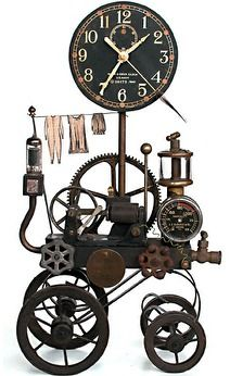 Roger Wood clock with laundry - Boing Boing