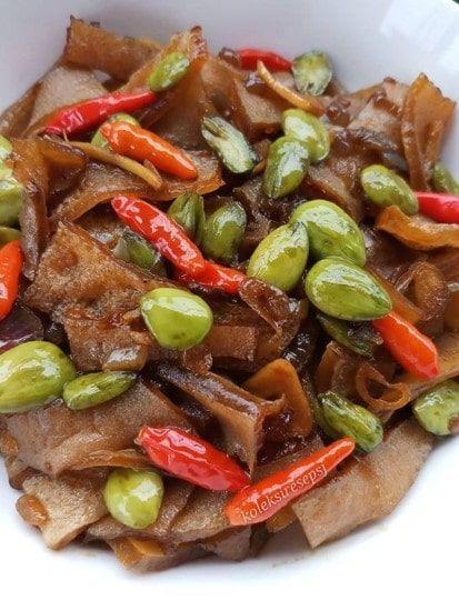 Resep Tumis Rambak Pete Penampakannya Mirip Kikil Resep Masakan Resep Makanan Tumis