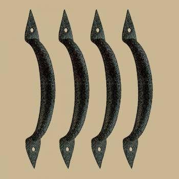 4 Door Pull Spike Black Wrought Iron 6 3/8
