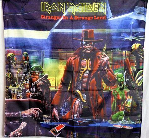 "Details about VINTAGE 1986 IRON MAIDEN STRANGER IN A STRANGE LAND POSTER 22"" x 34"" Funky #3100"