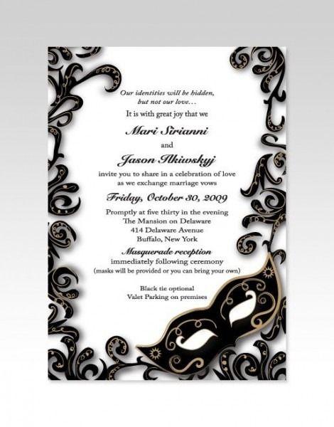 Black And White Masquerade Invitations Masquerade Wedding Masquerade Wedding Invitations Masquerade Party Invitations