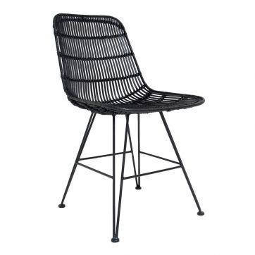 HKliving Rattan Eetkamerstoel   Rotan stoelen