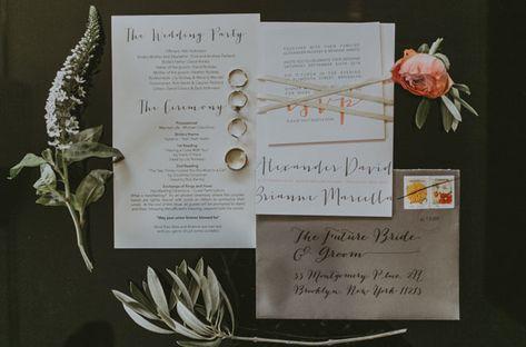 modern invitation + calligraphy