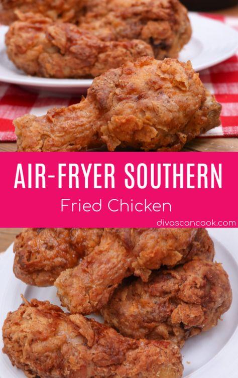 Air Fryer Southern Fried Chicken Recipe In 2020 Air Fryer