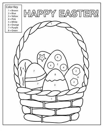 Happy Easter Worksheet For Kids Preschool And Kindergarten Easter Worksheets Easter Colors Easter Preschool