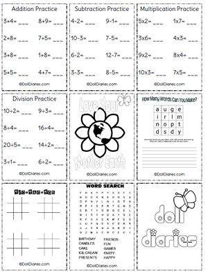 Printable Girls Worksheets