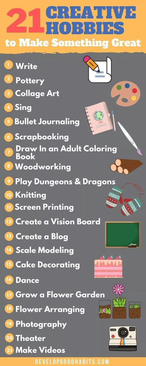 21 Hobbies to Help Flex Your Creativity