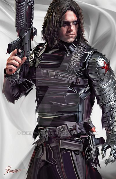 This is my piece in a set of Winter Soldier, The Cap and Iron Man. This piece did very well in the Edmonton Expo Winter Soldier Final sm