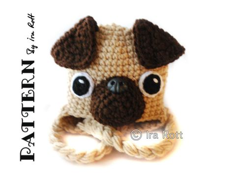 3a863978d31 The Pugfect Pug Puppy Dog Hat PDF Crochet Pattern