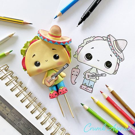 Easy to follow cake topper tutorials | Posts | How to design cute & unique cake toppers