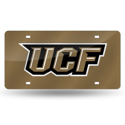 Central Florida Knights Laser Cut License Plate - Gold
