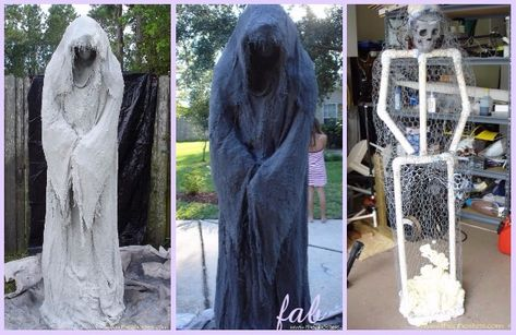 Diy halloween decorations 305118943506286956 - DIY PVC Monster Mud Reaper Ghost Halloween Decor Tutorial Source by Halloween Outside, Soirée Halloween, Homemade Halloween Decorations, Adornos Halloween, Manualidades Halloween, Halloween Party Decor, Halloween Costumes, Diy Halloween Props Scary, Halloween Garden Ideas