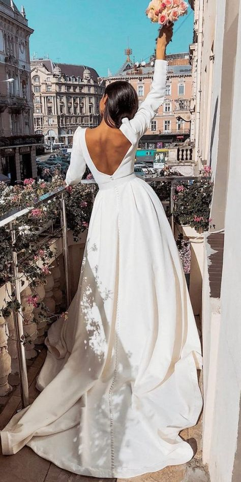 Top Wedding Dresses For Bride ★ See more: weddingdressesgui. Top Wedding Dresses For Bride ★ See more: weddingdressesgui. Wedding Dress Black, Country Wedding Dresses, Black Wedding Dresses, Bridal Dresses, Dresses Dresses, Simple Classy Wedding Dress, European Wedding Dresses, Wedding Dress Train, Classic Wedding Dress