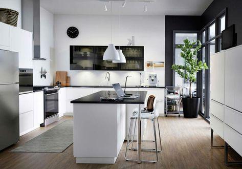 idea per arredare cucine moderne piccole con isola, nobili ...
