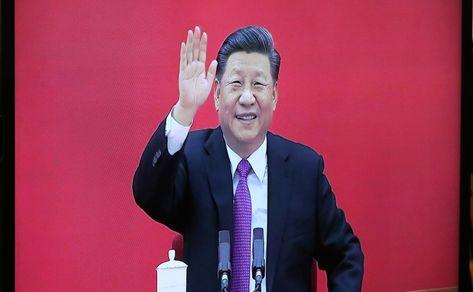 В ходе церемонии ввода в эксплуатацию газопровода «Сила Сибири». Председатель КНР Си Цзиньпин.