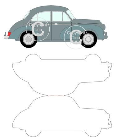 Cup696120 1929 Classic Car Morris Minor Card Template And Toppermulti Layers Paper Piecingcan Be Used In Conjunct Card Template Morris Minor Classic Cars