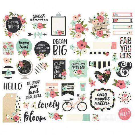 Simple Stories Ephemera Hello Summer Bits and Pieces Size M Multicolour