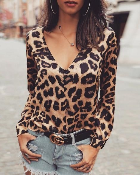 blouses shirts style v neck t shirts white v neck leopard blouse ruffled trimmed short sleeve v neck blouse #shirts #tshirt #offtheshoulder #sweatheart #croptop #bardot #blouse #vneck