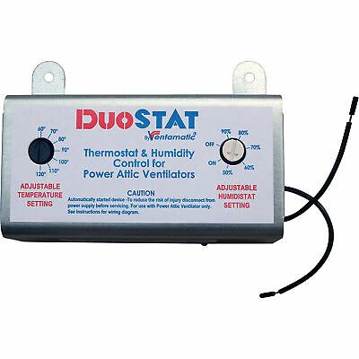 Sponsored Ebay Ventamatic Dual Temp Humidity Control Xxduostat Humidity Attic Vents Wall Fans