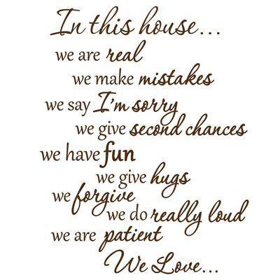 Winston Porter Dowgry In This House We Do Wall Decals