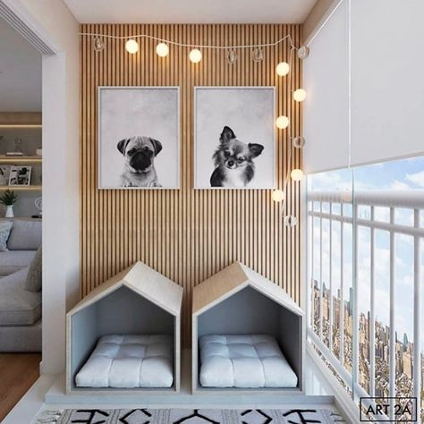 """Cozy Home Shots on Instagram: """"What is better than a cozy space, a cozy space for our fur friends🐶😃 Loved the frames✌️ via @art2aarquitetura  #cozyhomeshots #cozyhome…"""""""