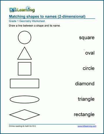 Pin On Grade Worksheets Worksheet shapes grade 1