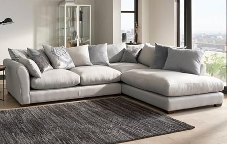 Globe Pillow Back Left Hand Facing Arm Large Corner Group In 2020 Corner Sofa Living Room Leather Corner Sofa Living Room Sofa