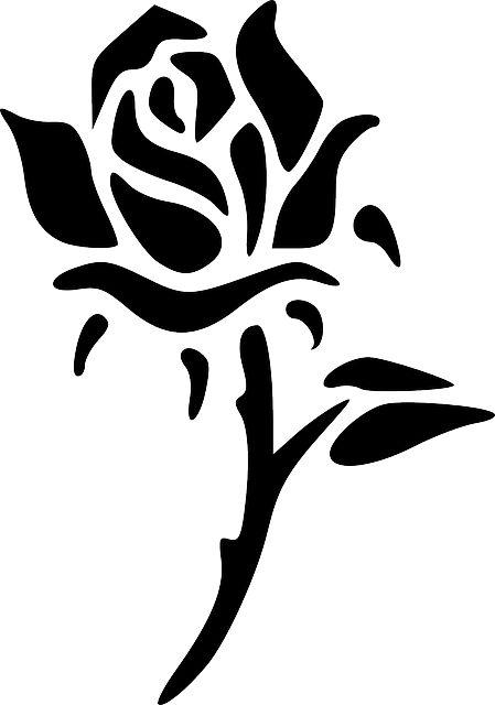 Gratis Billede Pa Pixabay Rose Blomst Silhuet Sort I 2020 Illustrasjon