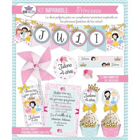 Princesas | BON VELER - diseños imprimibles | Pinterest | Kit ...