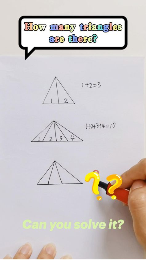 How many triangles are there? #sat #mathexam #gcse